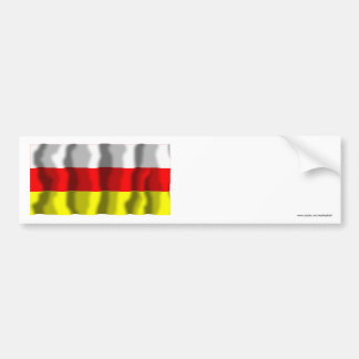 Republic of North Ossetia-Alania Flag Bumper Sticker
