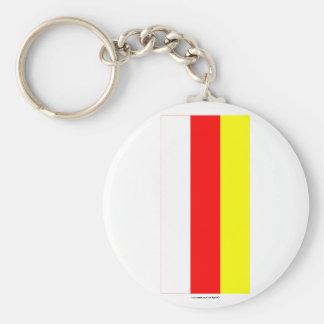Republic of North Ossetia-Alania Flag Keychain