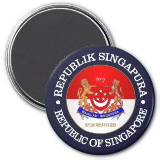 Republic of Singapore 3 Inch Round Magnet