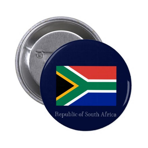 Republic of South Africa Pinback Button
