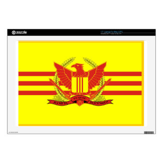 """Republic of South Vietnam Military Forces Flag 17"""" Laptop Decals"""