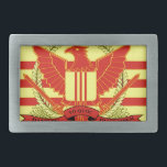 """Republic of South Vietnam Military Forces Flag Rectangular Belt Buckle<br><div class=""""desc"""">The flag of the Republic of Vietnam Military Forces (Pre 1975). Used from 1955 to 1975.</div>"""