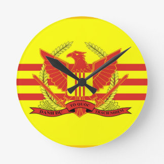 Republic of South Vietnam Military Forces Flag Round Clock