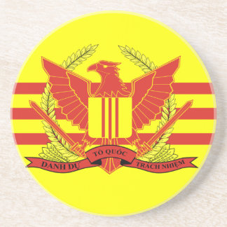 Republic of South Vietnam Military Forces Flag Sandstone Coaster