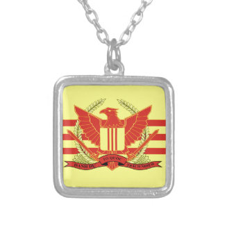 Republic of South Vietnam Military Forces Flag Silver Plated Necklace