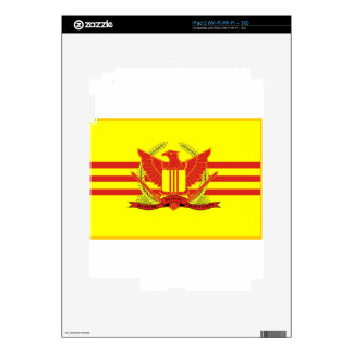 Republic of South Vietnam Military Forces Flag Skins For iPad 2
