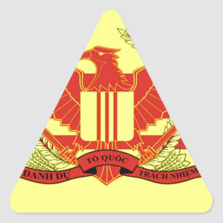 Republic of South Vietnam Military Forces Flag Triangle Sticker