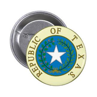 Republic of Texas 2 Inch Round Button