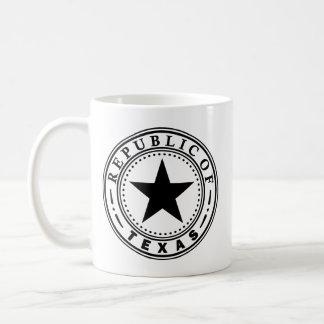Republic of Texas Classic White Coffee Mug