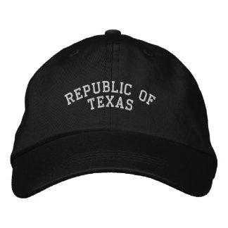 Republic of Texas Embroidered Adjustable Cap Black