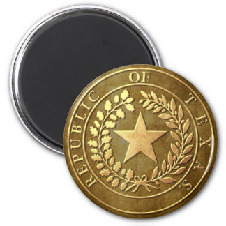 Republic of Texas Seal 2 Inch Round Magnet