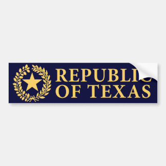 Republic of Texas Seal Bumper Stickers