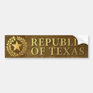 Republic of Texas Seal Bumper Sticker