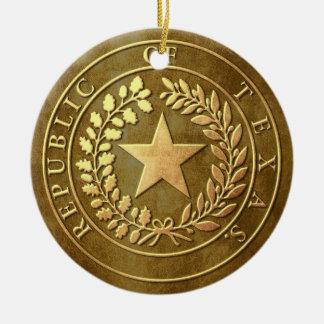 Republic of Texas Seal Ceramic Ornament