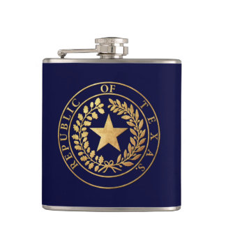 Republic of Texas Seal Flask