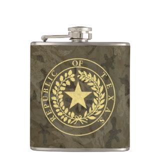 Republic of Texas Seal Hip Flask
