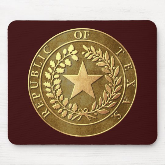 Republic of Texas Seal Mouse Pad