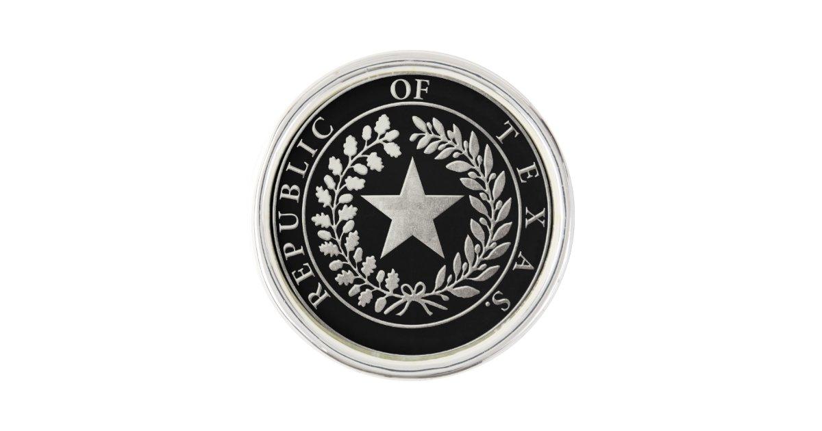Republic Of Texas Seal Pin Zazzle Com