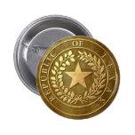Republic of Texas Seal Pinback Buttons