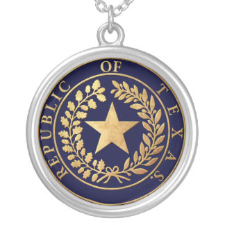 Republic of Texas Seal Silver Plated Necklace