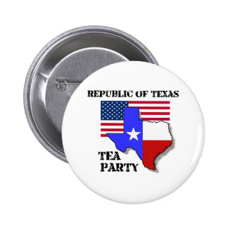 Republic of Texas Tea Party 2 Inch Round Button
