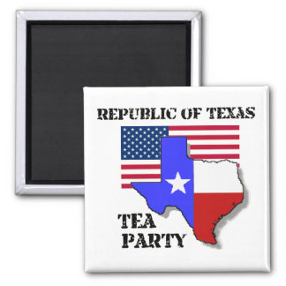 Republic of Texas Tea Party 2 Inch Square Magnet