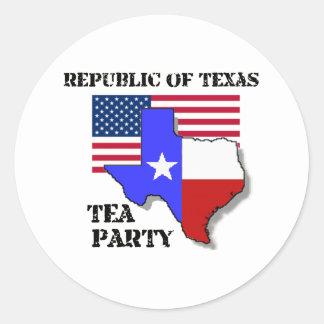 Republic of Texas Tea Party Classic Round Sticker