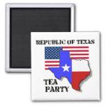 Republic of Texas Tea Party Fridge Magnet