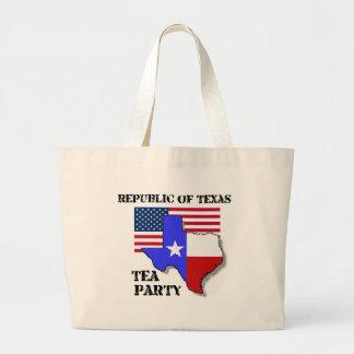 Republic of Texas Tea Party Large Tote Bag