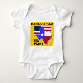 Republic of Texas Tea Party-yellow Baby Bodysuit