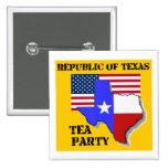 Republic of Texas Tea Party-yellow Pinback Button
