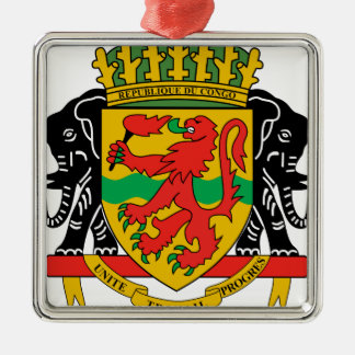 Republic of the Congo Coat of Arms Christmas Ornaments