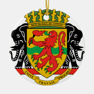Republic of the Congo Coat of Arms Christmas Ornament