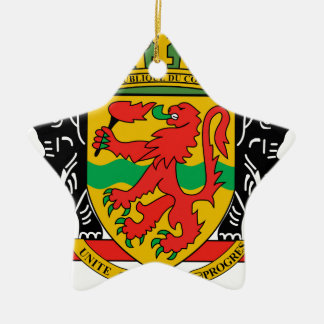 Republic of the Congo Coat of Arms Christmas Tree Ornaments