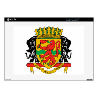 "Republic of the Congo Coat of Arms 15"" Laptop Decals"