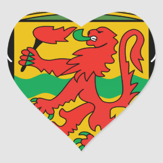 Republic of the Congo Coat of Arms Heart Stickers