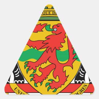 Republic of the Congo Coat of Arms Triangle Sticker
