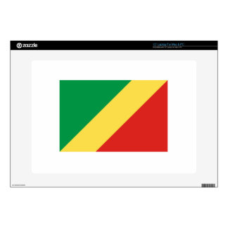 "Republic Of The Congo Flag 15"" Laptop Decal"