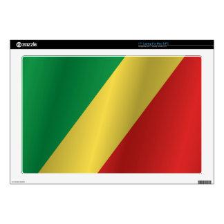 "Republic of the Congo flag 17"" Laptop Skin"