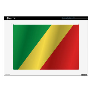 Republic of the Congo flag Decals For Laptops