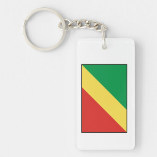 Republic of the Congo Flag Keychain