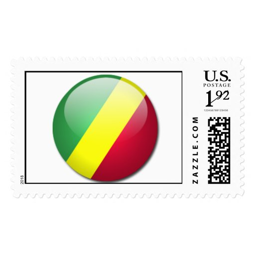 republic of the congo flag postage