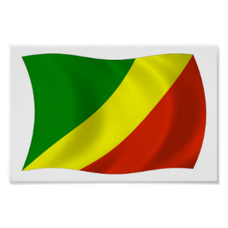 Republic of the Congo Flag Poster Print