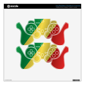 Republic of the Congo flag PS3 Controller Skin
