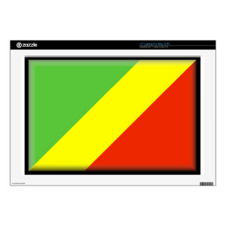 "Republic of the Congo Flag 17"" Laptop Decal"
