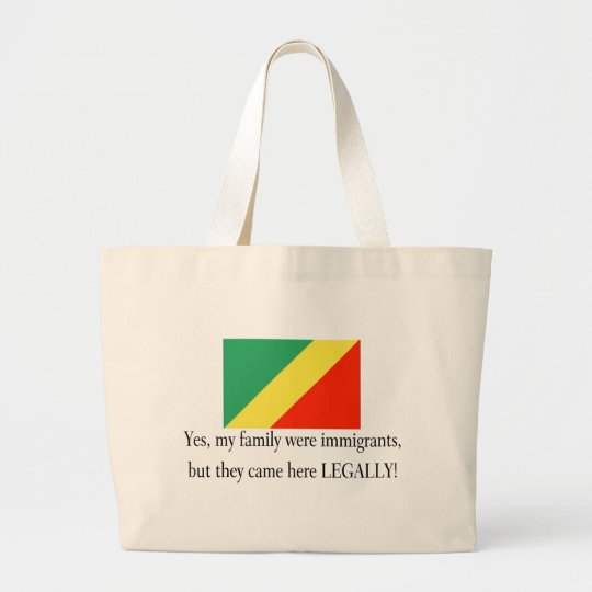 Republic of the Congo Large Tote Bag