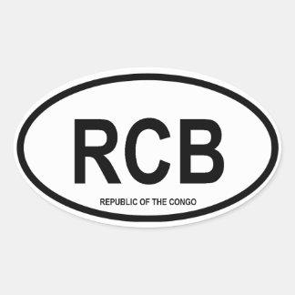 "Republic of the Congo ""RCB"" Oval Sticker"