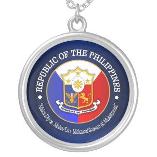 Republic of the Philippines Round Pendant Necklace