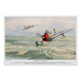 Republic P-47 Thunderbolt Poster
