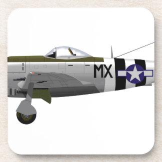 Republic P-47D Thunderbolt Beverage Coaster